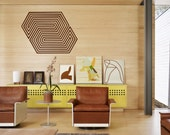 Optical Illusion Paragon Geometric Lines vinyl wall decal removable wall decor (ID: 151007)