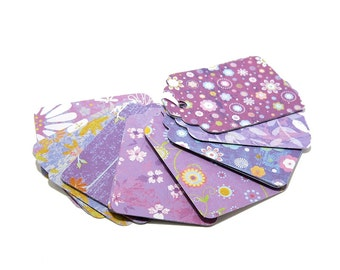 Gift Tags, Tags, Purple Gift Tags - Purple Floral Tags, Favor Tags, Price Tags