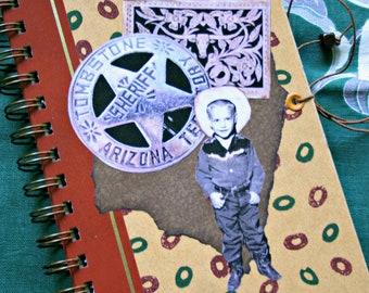 Notebook: Handmade Western Theme Ephemera Journal--Recycled 1968 Reader's Digest Book Cover