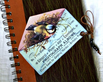 Notebook: Handmade Nature Themed Ephemera Journal--Recycled 1969 Reader's Digest Book Cover