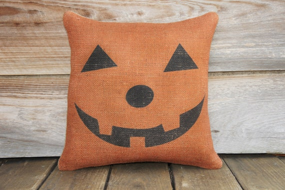 Pumpkin Pillow, Halloween Decoration, Spooky, Porch, Trick or Treat, Party Decor