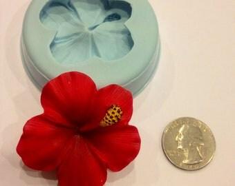 Hibiscus Silicone Mold (chocolate, fondant, gumpaste, sugarcraft, cake, wedding, favors, showers, gummy)