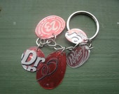 Dr. Pepper lovers keychain lightweight recycled