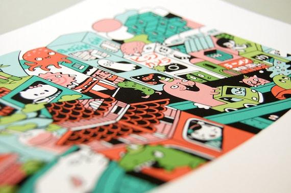 TOKYO Illustration - Giclee Print