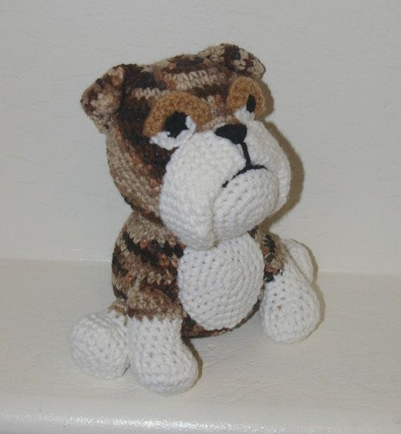 Items Similar To Plush Brindle Bulldog Handmade Crochet
