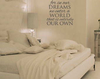 In Our Dreams Vinyl Wall Art Decal