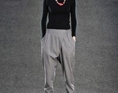 Elegance Casual The waist Pants in  Gray C013