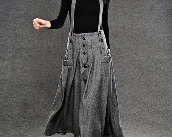 Wool skirts Long Maxi Skirt C048