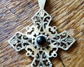 Coptic cross pendant. Brass Coptic Cross. Copper Coptic Cross