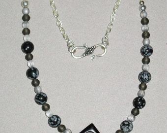 Snowflake Obsidian Shades of Gray