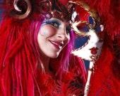 Sprite ELFLOCKS Dreadlocks Dread Falls in Red/Pink/Orange for Cosplay, LARP, Clubbing, Tribal Belly Dance, Festivals, Alt Fashion, Goth Punk