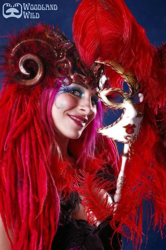 Sprite ELFLOCKS Dreadlocks Dread Falls in Red/Pink/Orange for Cosplay, LARP, Tribal Belly Dance, Festivals, Alt Fashion, Goth, Performance