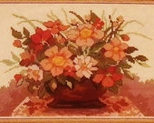 Vintage Flowers Cross Stitch kit New