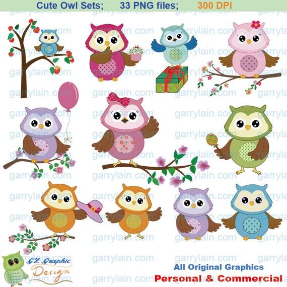 Cupcake Clipart Cute Cute Owl Clipart Digital Lil