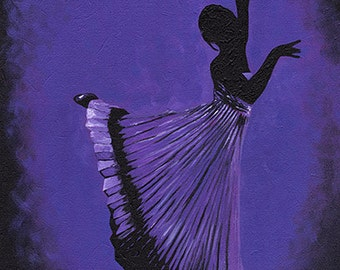 Original Acrylic Painting on Canvas 'Rome' 16x20 Dancer Ballet Modern Contemporary
