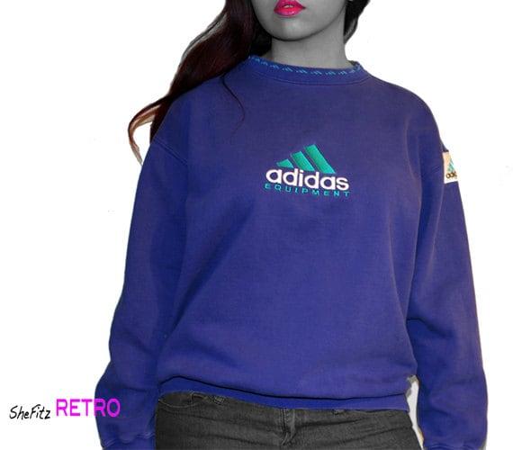unisex vintage 90s adidas retro pullover sweatshirt. Black Bedroom Furniture Sets. Home Design Ideas