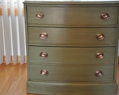 Olive Green Stain Washed Dresser