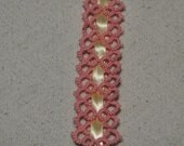 Pink, blue, burnt orange, green, pastel or your choice Tatted bookmark