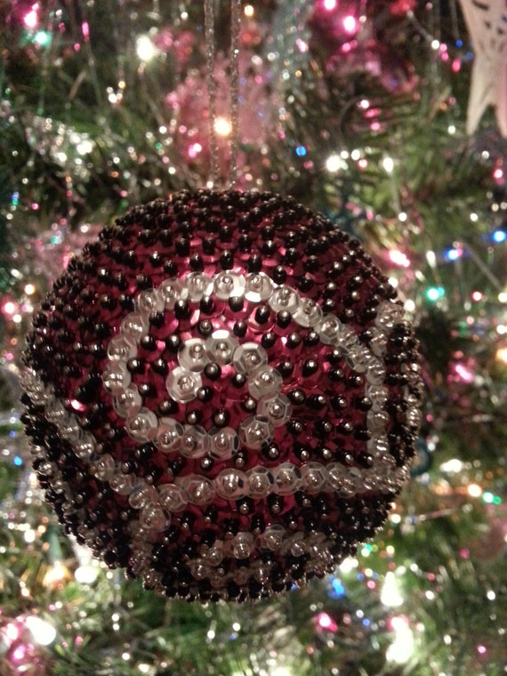 Items Similar To Gorgeous Handmade Sequin Ball Ornament On