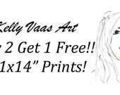 """PRINT SALE--Buy 2 11x14"""" Get 1 FREE"""