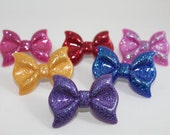 LARGE BOW RINGS, Adjustable, Glittery, Different Colors to choose from