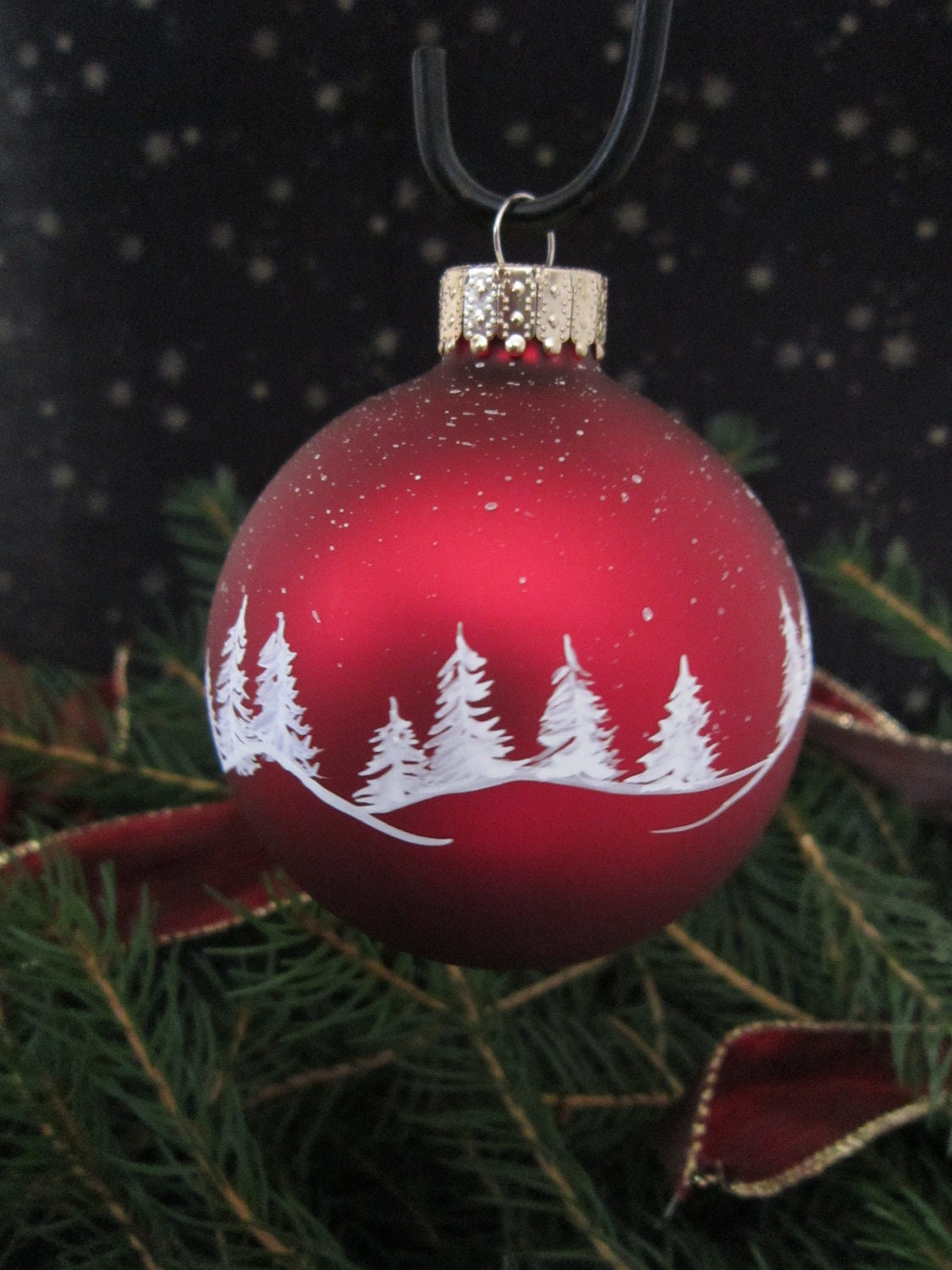 Handpainted glass christmas ornament for Christmas glass painting
