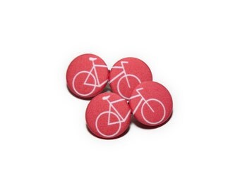 Red Bicycle Hair Clips