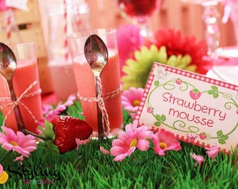 Strawberry Shortcake Tent Cards