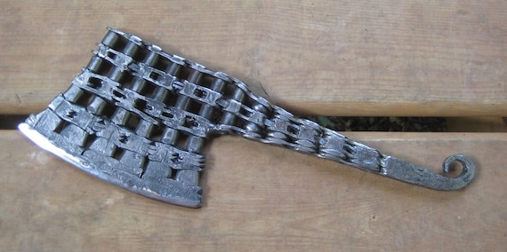 Items similar to Bike Chain Cleaver. Post Apocalyptic Weapon Hand Forged by Blacksmith. on Etsy