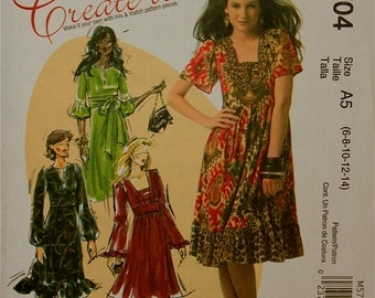 Dress McCall's Create it Pattern 5704  Uncut   Size 6-8-10-12-14  or 14-16-18-20
