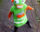 child cookie robot green costume for baby toddler