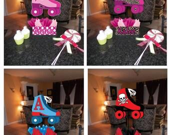 "DIY small 12"" Roller Skate Skating Birthday Party Centerpieces Centerpiece baby shower 1st birthday Mitzvah"