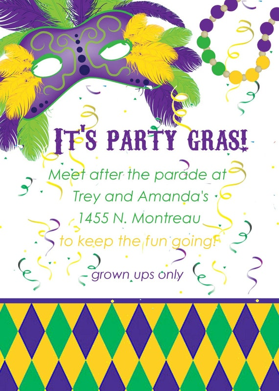Irresistible image throughout free printable mardi gras invitations