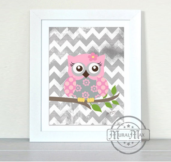 Owl nursery decor owl nursery baby girl nursery art - Girl owl decor ...