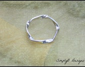 Stack Rings Silver - Twist Stack Ring - Unique Minimal Ring