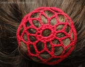 Small Star shaped / Flower Chigon /  Hairbun cover / snood / netting for small ponytails - ballet - up dos