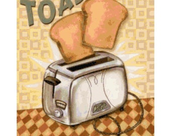 Handmade Retro Toaster PDF Cross-Stitch Pattern