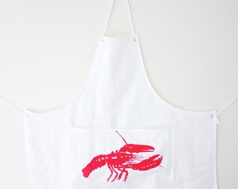 Linen Apron - Red Lobster