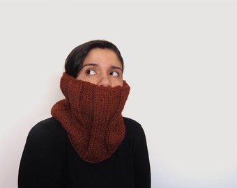 custom knit chunky cowl -- the veral neckwarmer in spice, or your color of choice