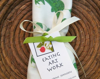 SUGAR SNAP PEAS Kitchen Towel, Cotton/Linen