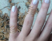 Gold Brass Coil Rings - Knuckle Rings, Pinky Rings, Toe Rings or Regular Rings