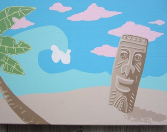 Tiki man wave painting
