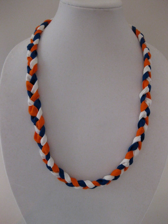 You CHOOSE the team-braided necklace in your team colors-high school, college, or professional