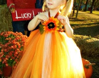 Fall / Autumn Scarecrow Tutu Dress Size Nb-5t