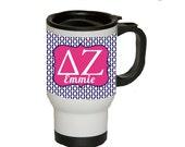 Sorority Letter Sorority Big Little Gift  Personalized Delta Zeta Travel Mug  Design Your Own Mug  Personalized Sorority Gift