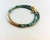 Gold Bar Bracelets friendship bracelets minimalist Jewelry SET OF 3