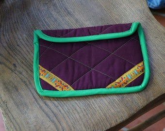 Maroon Ribbon Detail Kindle Fire Case