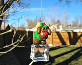 Miniature Christmas Reindeer Cupcake Topper / Ornament