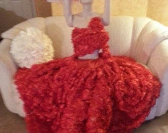 Bohemian Red Rose Goddess Middle Eastern Inspired Bridal Wedding Formal Ball Gown Skirt And Bandeau Top