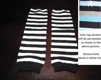 BLACK STRIPES baby leg warmers.  Great for babies, toddlers, and young kids